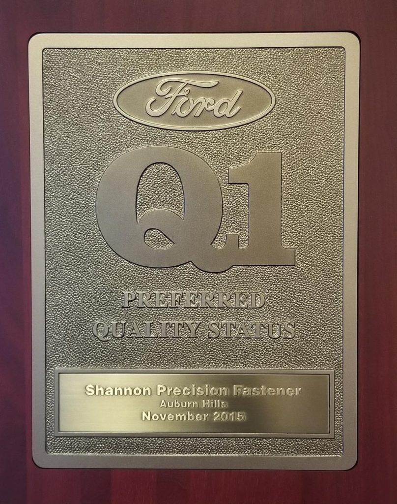 Ford Q1 Certified Supplier